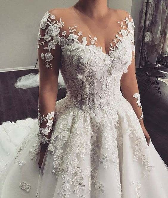 Ishita Pinterest Queerblack Long Sleeve Wedding Gowns Sheer Wedding Dress Ball Gowns Wedding