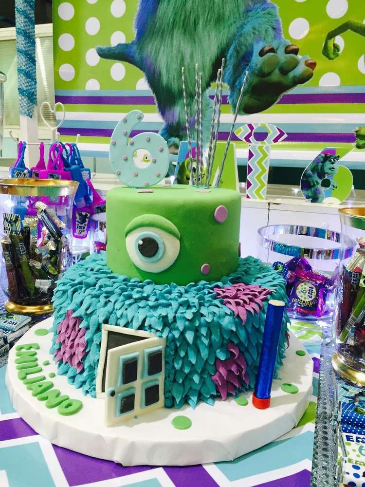 Monster Inc Birthday Party Ideas Photo 5 Of 7 Monster Inc Birthday Monster Inc Party Birthday