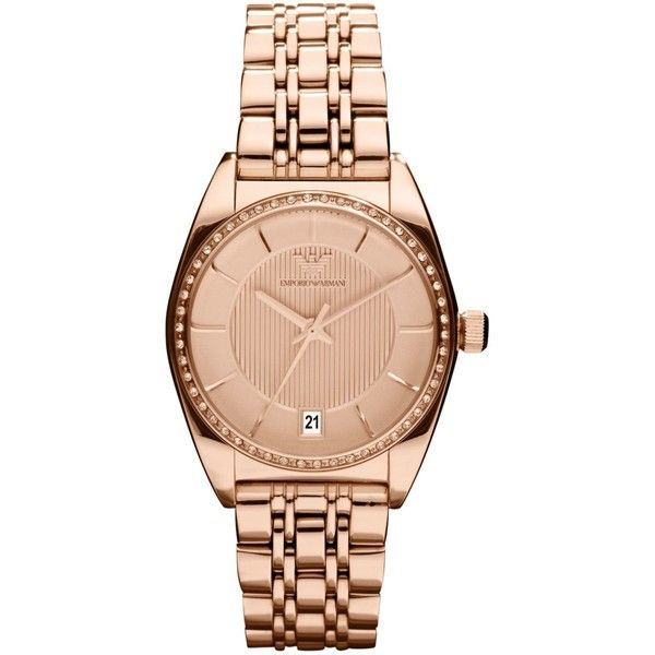 796b8f8e28 Emporio Armani Watch, Women's Rose Gold Tone Stainless Steel ...