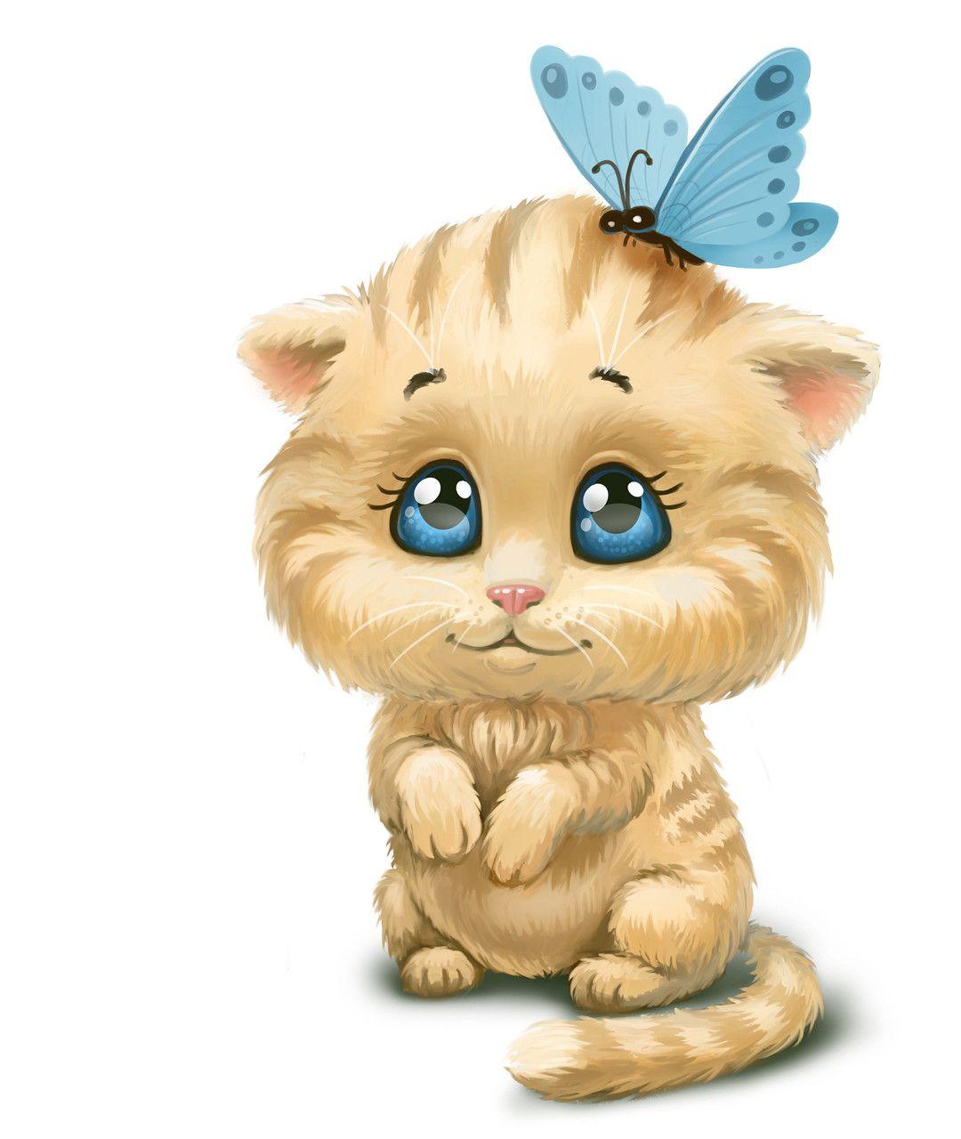 Днем, картинки котики с цветами мультяшные