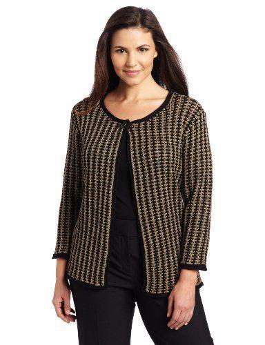 05bb294179d5 Jones New York Women s Jewel Neck Cardigan Sweater