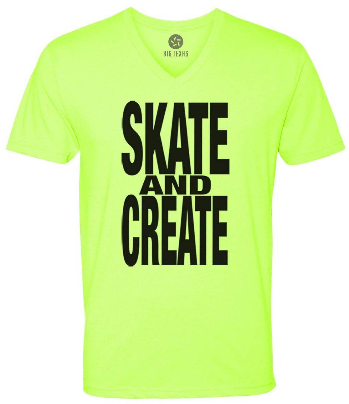 Skate and Create (Black) Short-Sleeve V-Neck T-Shirt