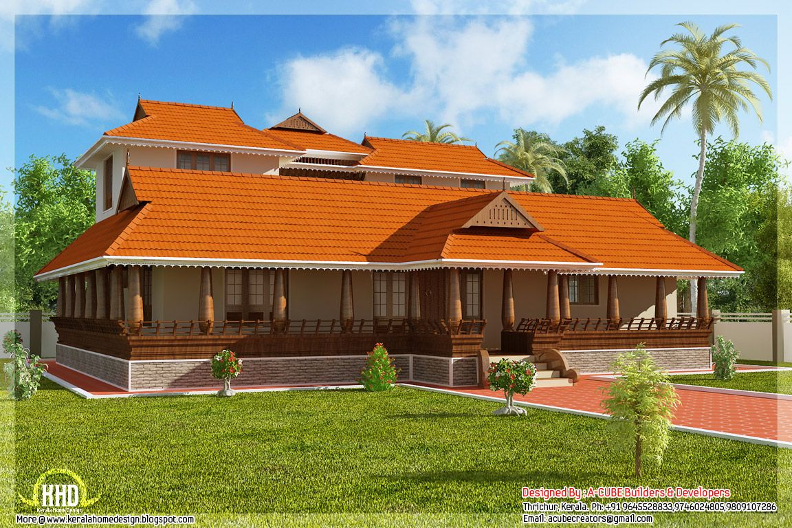 Tharavadu Model Houses Nalukettu Architecture Pinterest