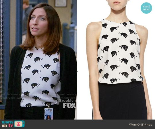 13cb45173ebf1a Gina s panther print top on Brooklyn Nine-Nine. Outfit Details  https