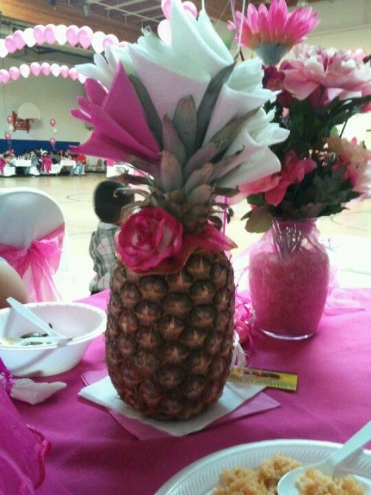 We've got a roundup of pineapple centerpiece ideas for you next luau…