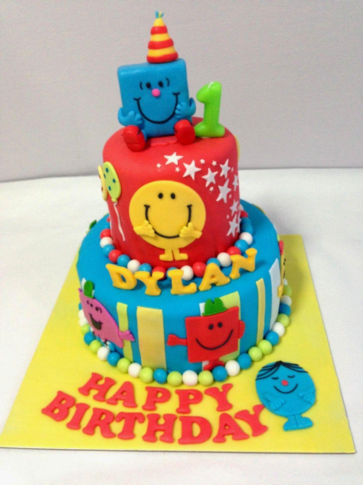 Oven Creations Happy St Birthday Dylan Mr Men Birthday Party - Mr tickle birthday cake