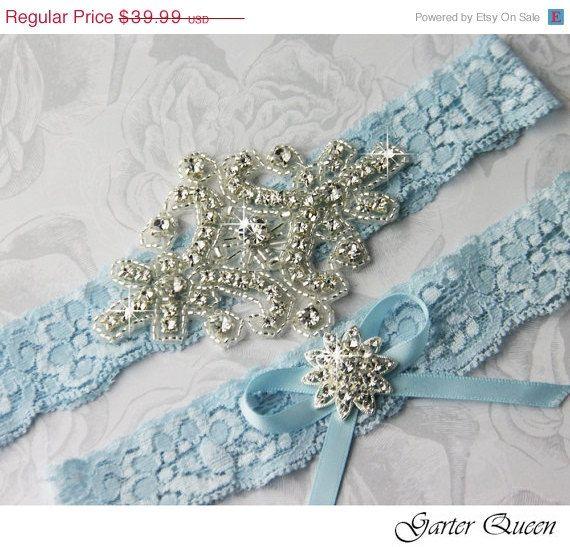 SALE Wedding Garter Set Bridal Garter Something by GarterQueen, $35.99