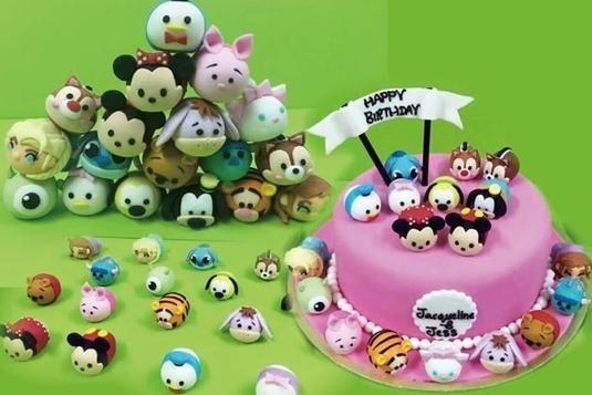 Tsum Tsum Cake Cake Baking Classes In Singapore Tsum Tsum Cake No Bake Cake Baking Classes