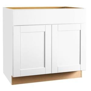 Best Hampton Bay Shaker Assembled 36X34 5X24 In Sink Base 400 x 300