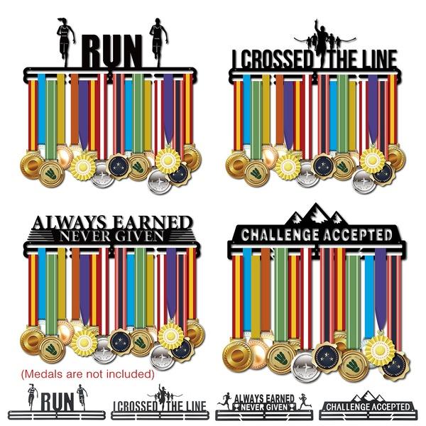 Sport Race Medal Hanger Display Metal Medal Holder Rack for 30-45 Medals Black
