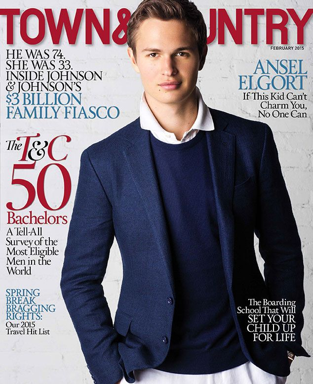 Ansel Elgort - Town And Country Magazine