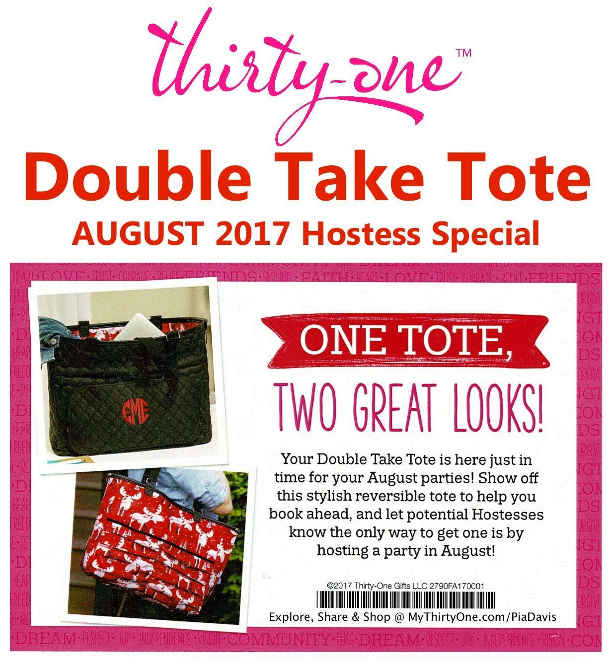 Thirty one november customer special 2014 - Double Take Tote August 2017 Hostess Special Love The New Thirty One Prints