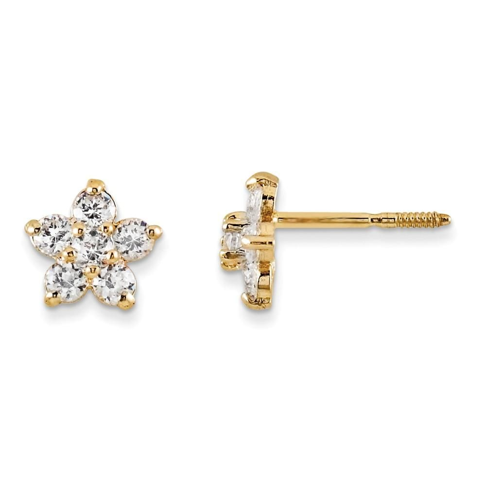 80783f9d1 14K Yellow Gold Madi K Marquise CZ Star Earrings | Products ...