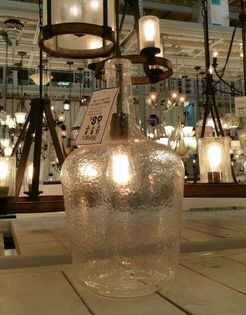Allen & Roth, Lowes Brz Clr Glass Bottle Pendant $89 kitchen island ...