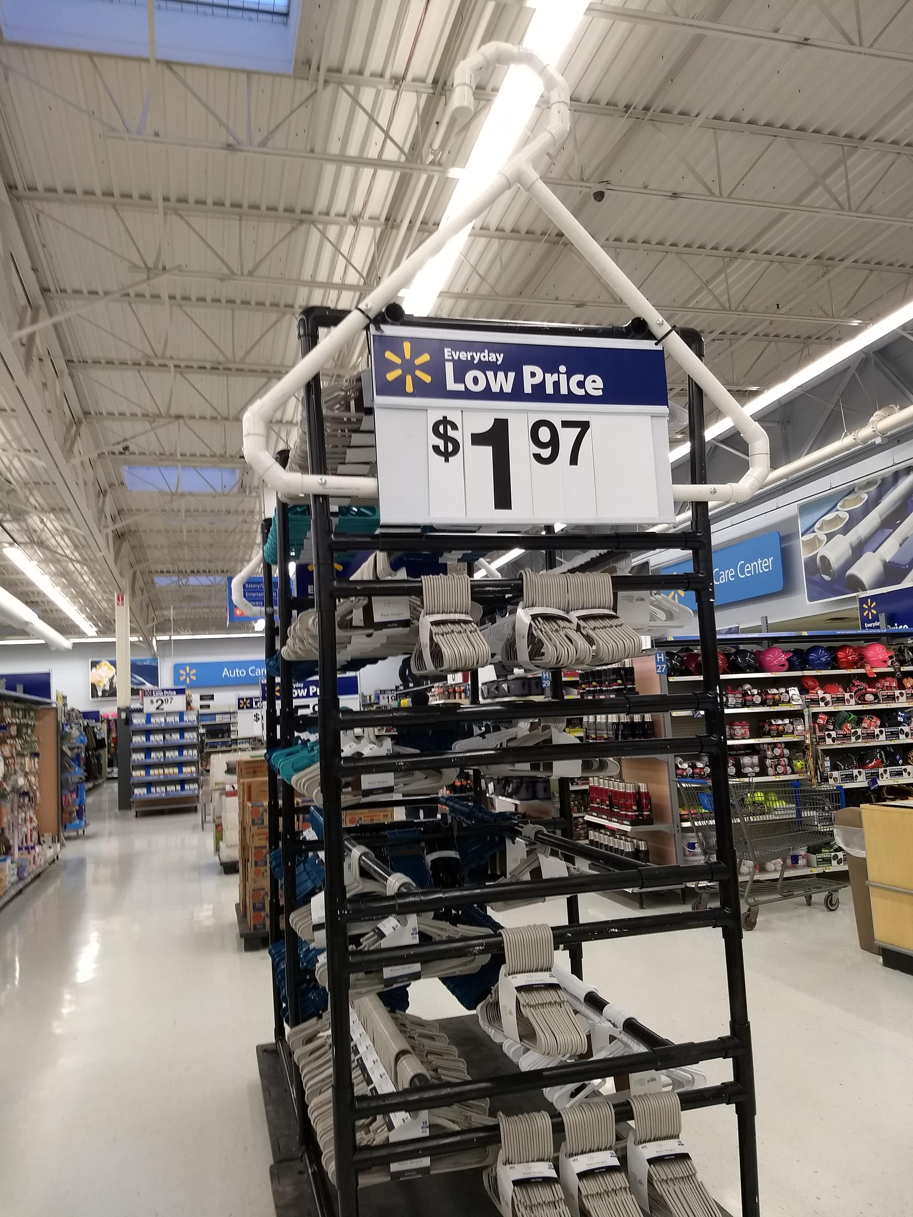 This Hanger Display at my local Walmart | Projects to Try