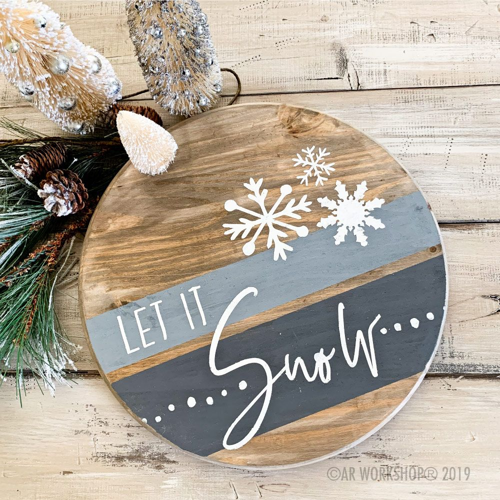 Round Wood Projects Ar Workshop Christmas Signs Wood Christmas Projects Christmas Wood