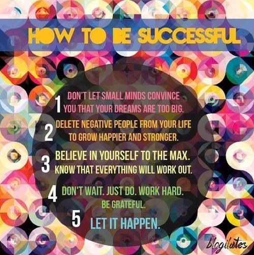 How to be successful.