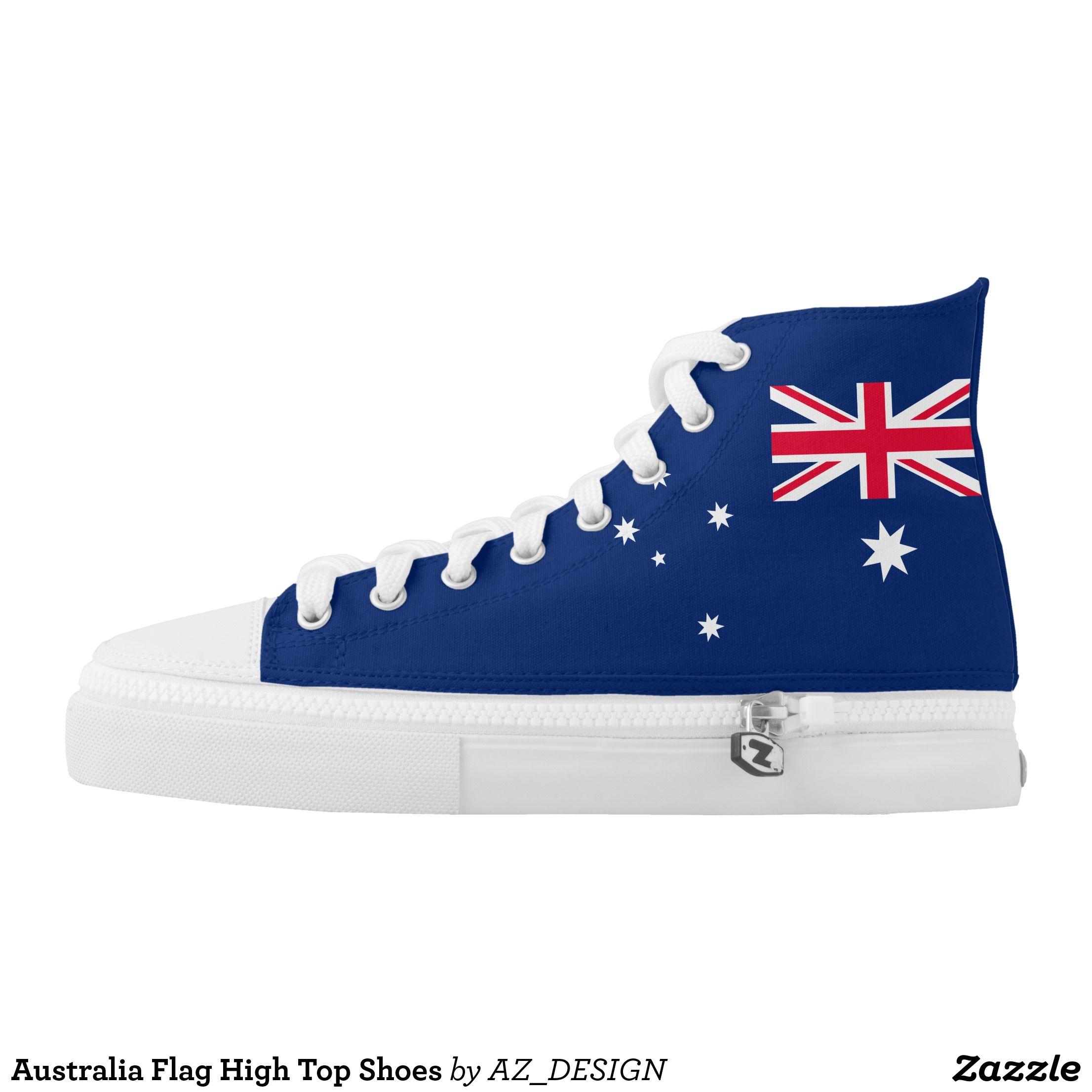 Australia Flag High Top Shoes | Zazzle