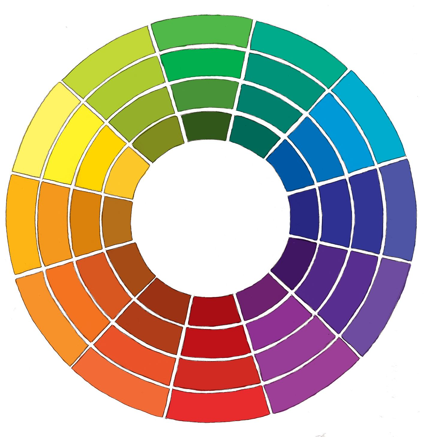 Hand Drawn Colour Wheel Color Wheels Wheels And