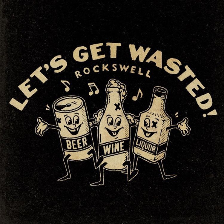 Retro Let's Get wasted T-shirt #vintagecartoon