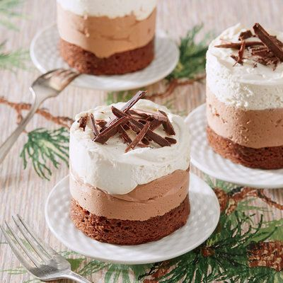 Triple Chocolate Brownie-Mousse Stacks - December 2015 Recipes - Southern Living