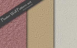 漆喰など塗り壁のシームレスなパターンテクスチャ素材3種類 Photo の