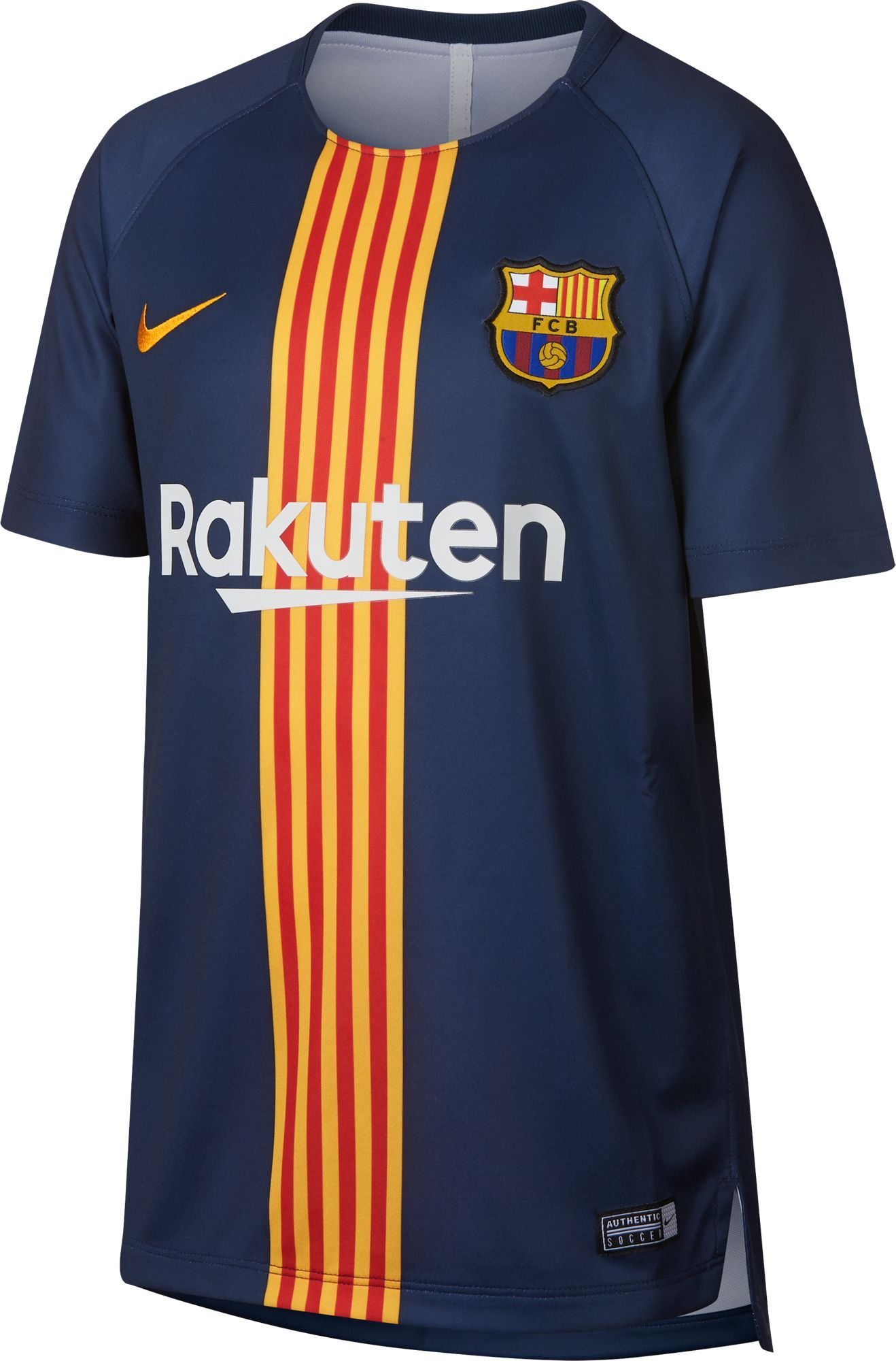 67a5236efd8 Nike Youth FC Barcelona Black Navy Prematch Top