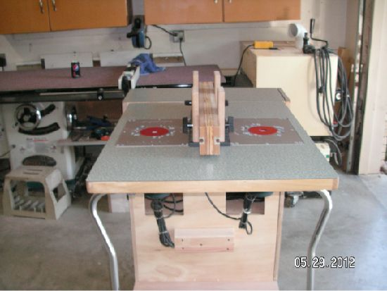 Cool Double Router Table Workshop Routers Tables Jigs