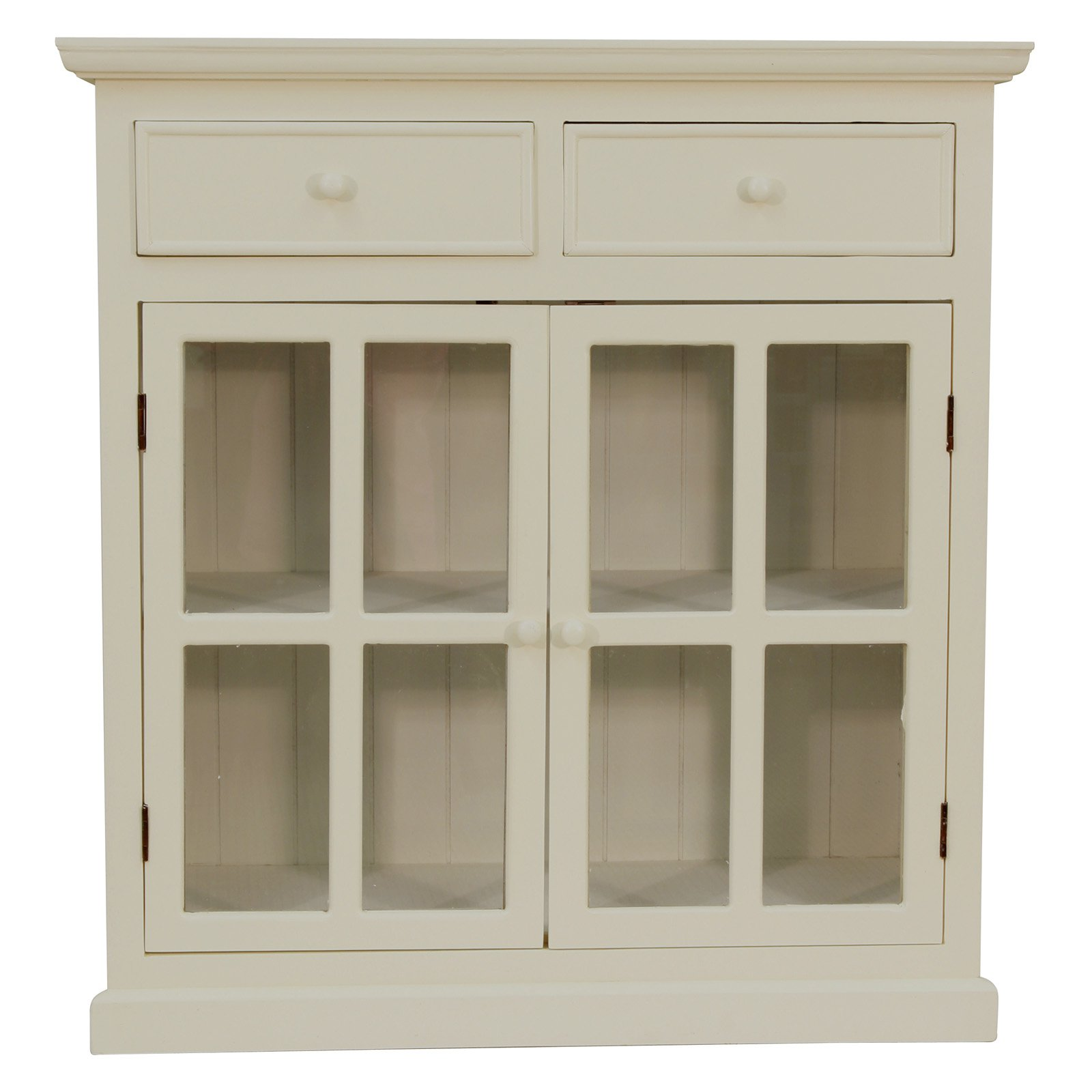 Decor Therapy Layla Glass Door Accent Cabinet Accent Storage