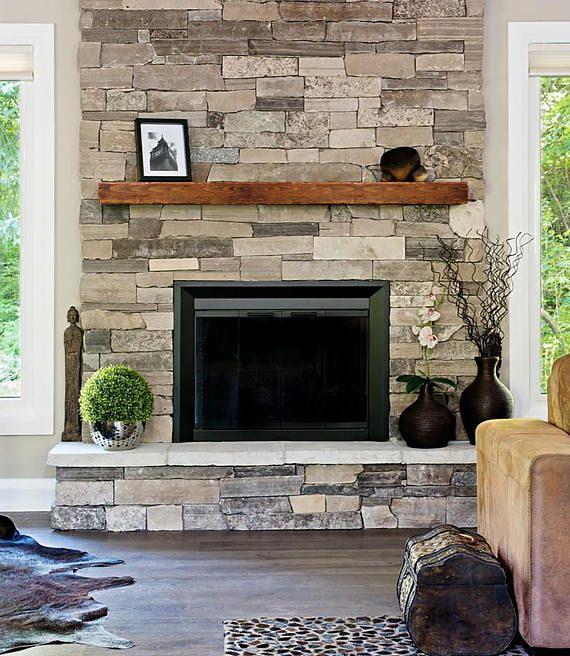 Fireplace Mantle 8x8 Farmhouse Mantel Rustic Modern Mantle