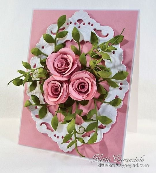 Petra's Oval and Roses. Another stunning card by the lovely Kittie at SCS.