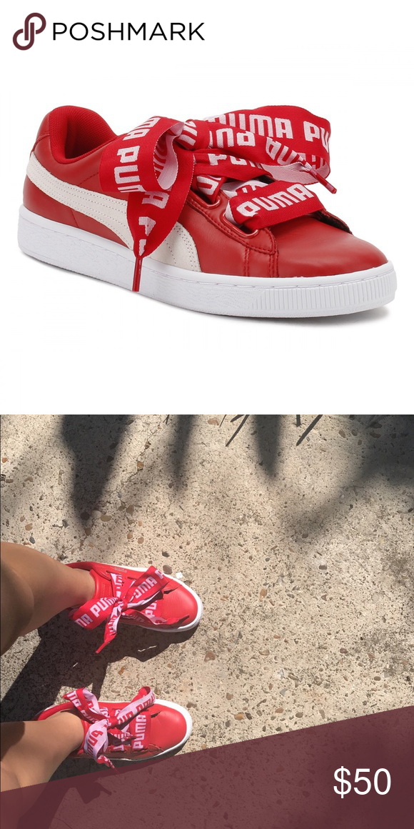 the best attitude e8c95 84a5b Puma basket heart red ❤️ Excellent conditions. Only worn a ...