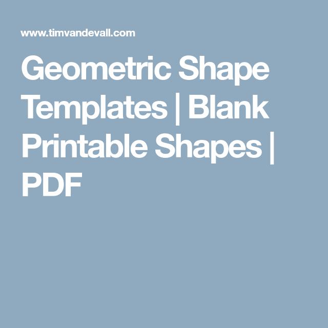Geometric Shape Templates | Blank Printable Shapes | PDF | English ...