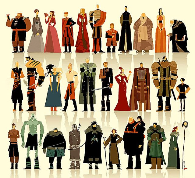 An Excellent Stylisation Of Game Of Thrones' Characters | Kotaku Australia