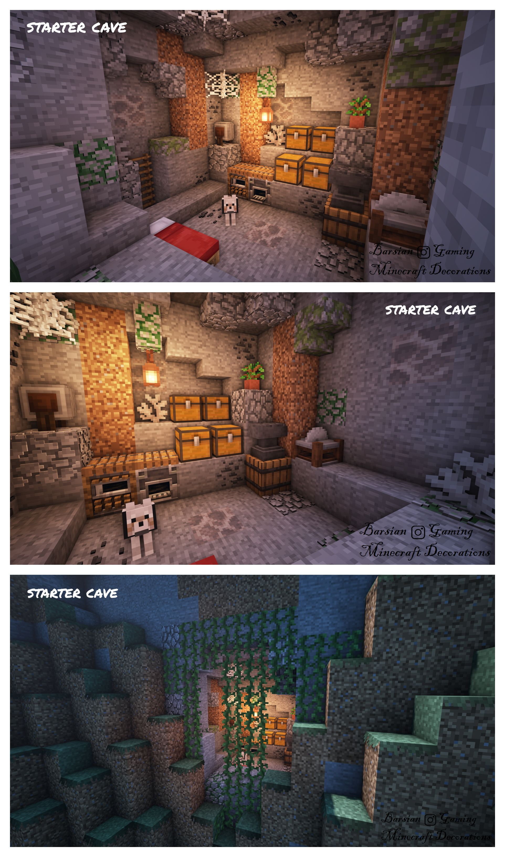 Starter Cave Minecraft architecture Minecraft houses Minec