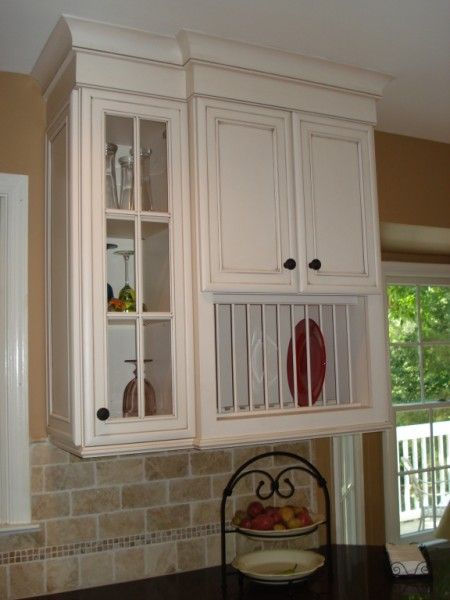 Kitchen Cabinets For Plates plate racks for kitchen cabinets | twin spice pullouts flanking