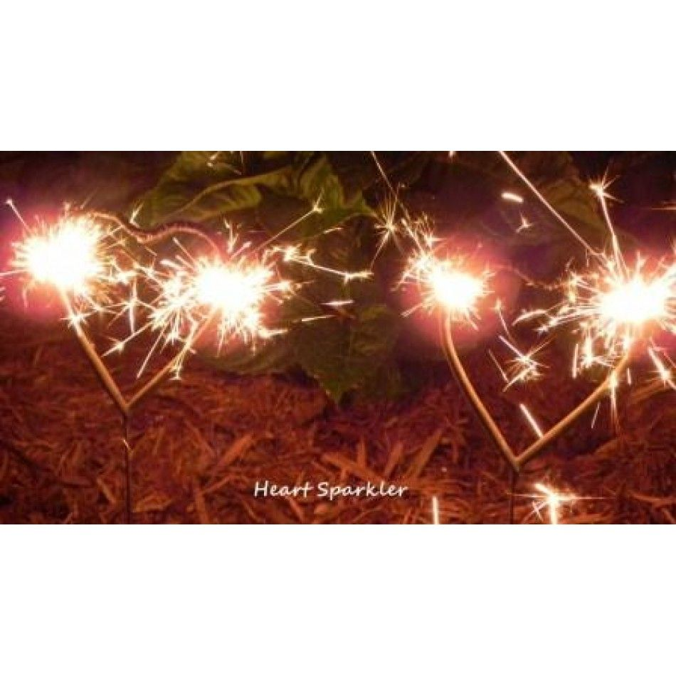 Heart Shaped Sparklers Bulk Case Of 72 Wedding 15049 Whole Supplies Favors