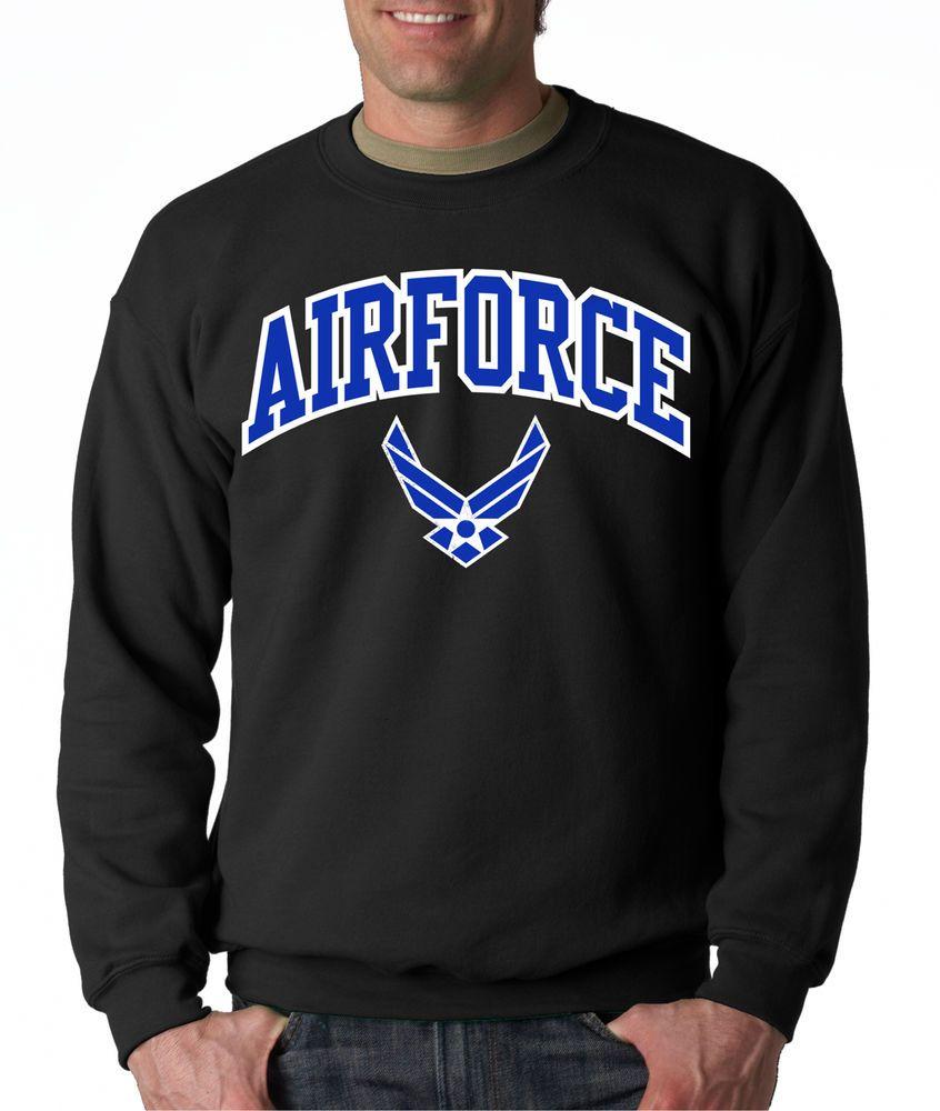 Air Force Arched Crew Neck Black Us Sweatshirt Usaf Hooded U S Logo Pullover Usa Sweatshirts Crew Neck Sweatshirt Blue Sweatshirt [ 1000 x 846 Pixel ]