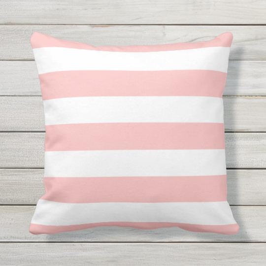 Modern Light Pink And White Stripes Throw Pillow Zazzle Com Striped Outdoor Pillow Stripe Throw Pillow Pink And White Stripes