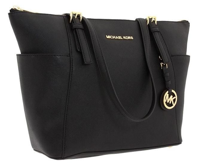 Michael Kors Mk Jet Set Top Zip Saffiano Leather 30f2gttt8l Black Tote Bag. Get one of the hottest styles of the season! The Michael Kors Mk Jet Set Top Zip Saffiano Leather 30f2gttt8l Black Tote Bag is a top 10 member favorite on Tradesy. Save on yours before they're sold out!