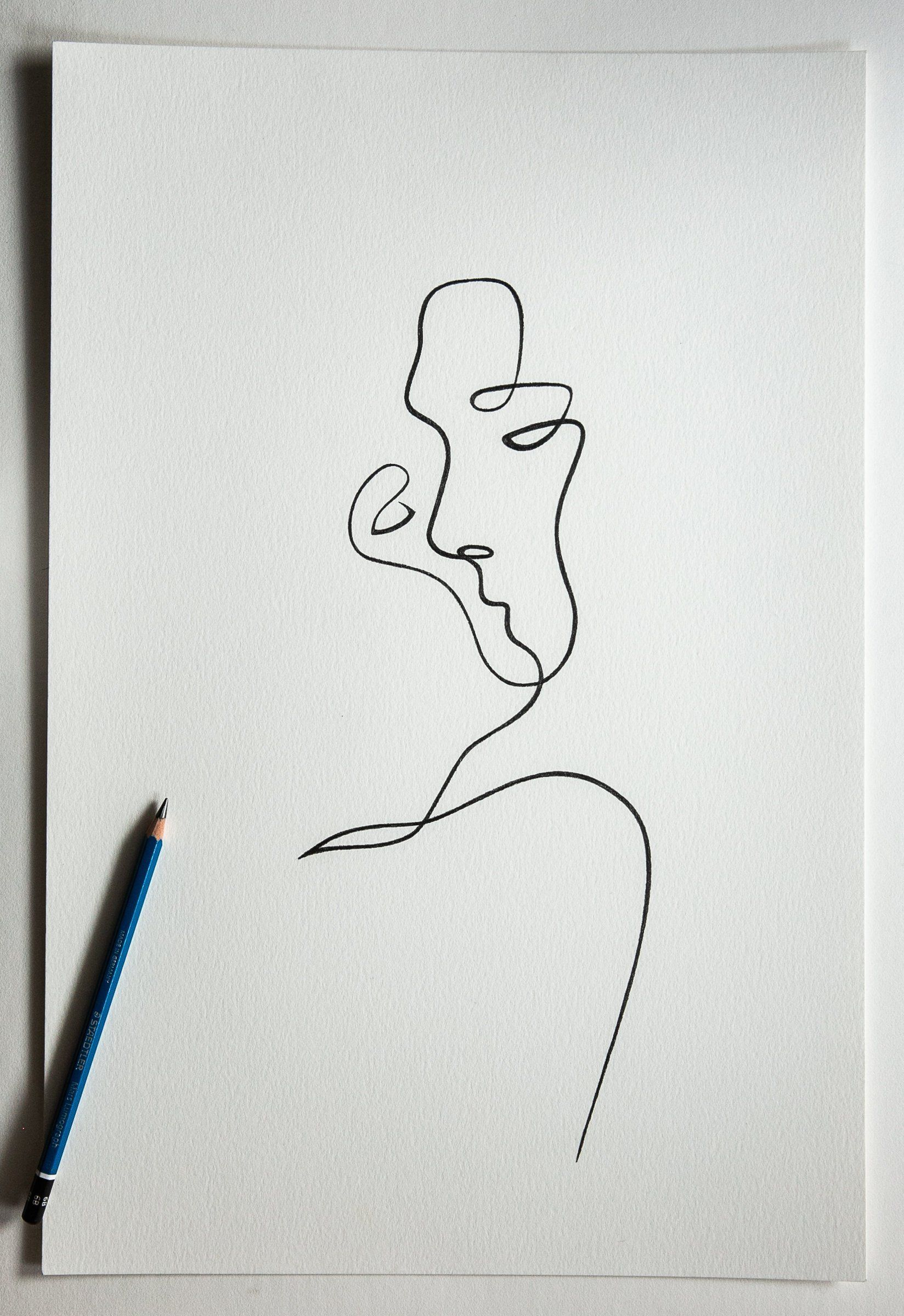 Original One Line Drawing By Withoneline Line Drawing Tattoos