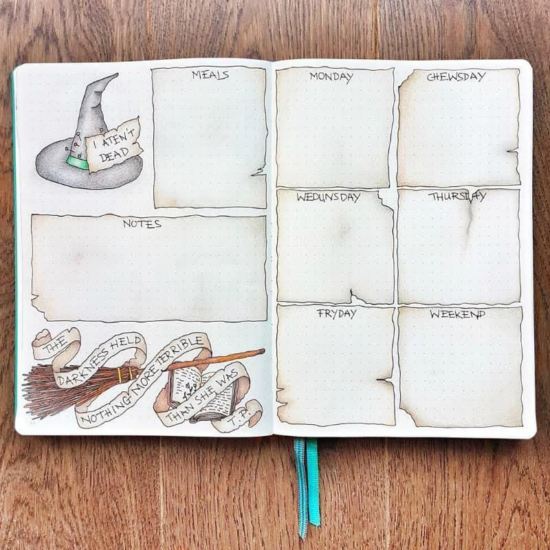 40+ Halloween Spreads For Your Bullet Journal   Little Miss Rose