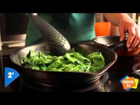 Creps de espinacas con queso y jamón - Platos Únicos Nestlé - YouTube