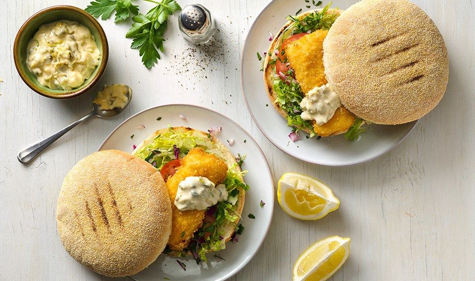Classic Fish Burger with Easy Tartare