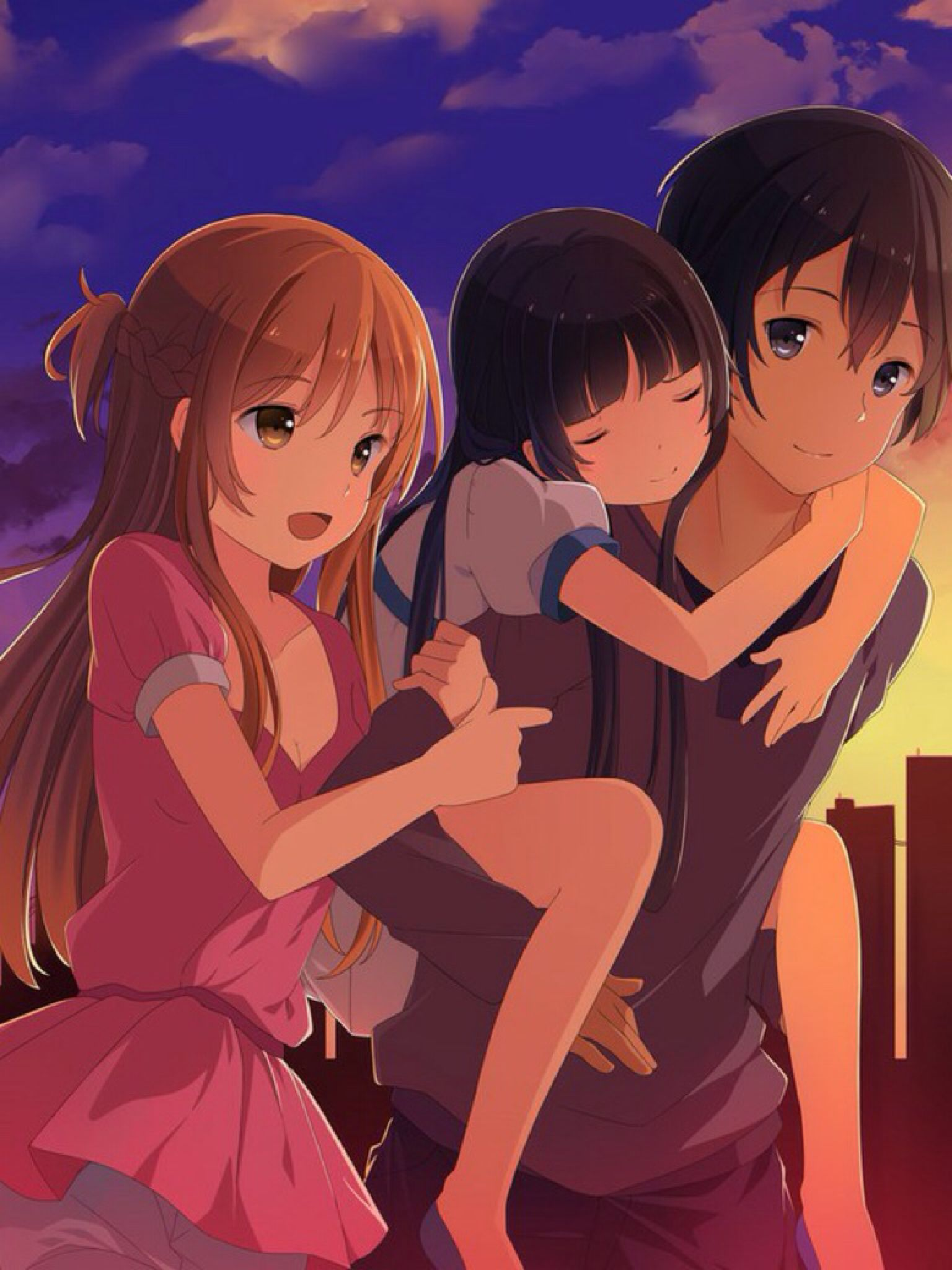 Sword Art Online -- • • Finally a picture where both Kirito and ...