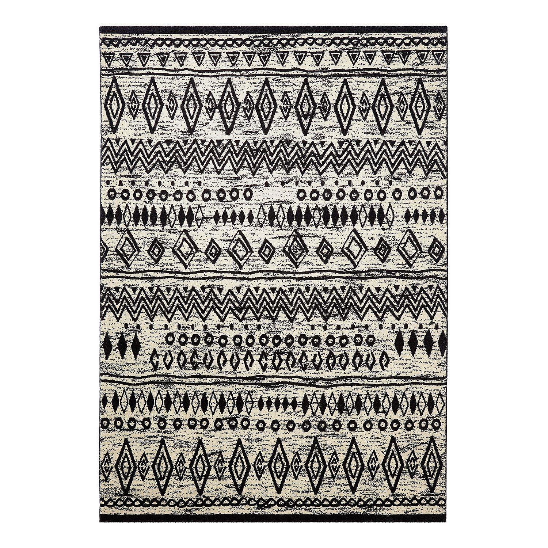 Wecon Home teppich contemporary kelim schwarz weiß 200 x 290 cm wecon