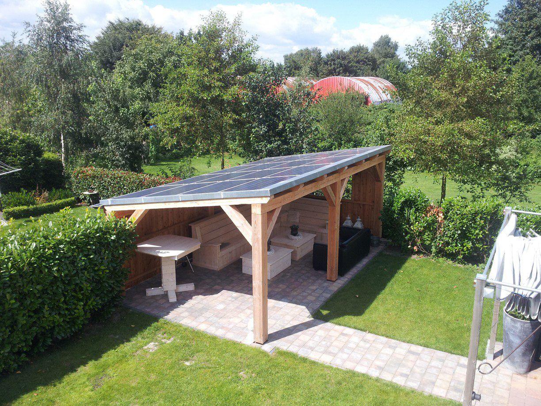 Garage Met Veranda : Veranda met zonnepanelen zagerij houtbouw popken gazebo