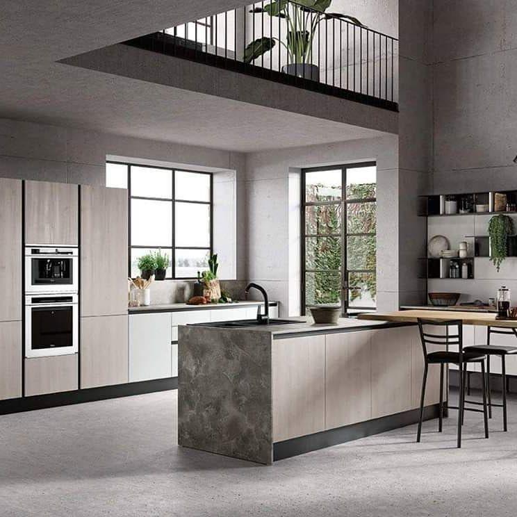 Cucina Moderna Cucinesumisura Cucina Kitchendesign Cucinamoderna Bianco Legnoebianco Senzamaniglia Isola In 2020 Home Decor Furniture Modern