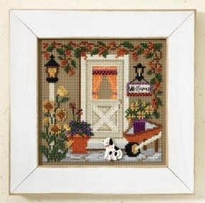 "MH147206 - Country Welcome (2007) - Mill Hill - Buttons and Bead Kits - Autumn Series Kit Includes: Beads, ceramic buttons, perforated paper, needles, floss, chart and instructions. Mill Hill frame GBFRM10 sold separately Size: 5"" x 5"""