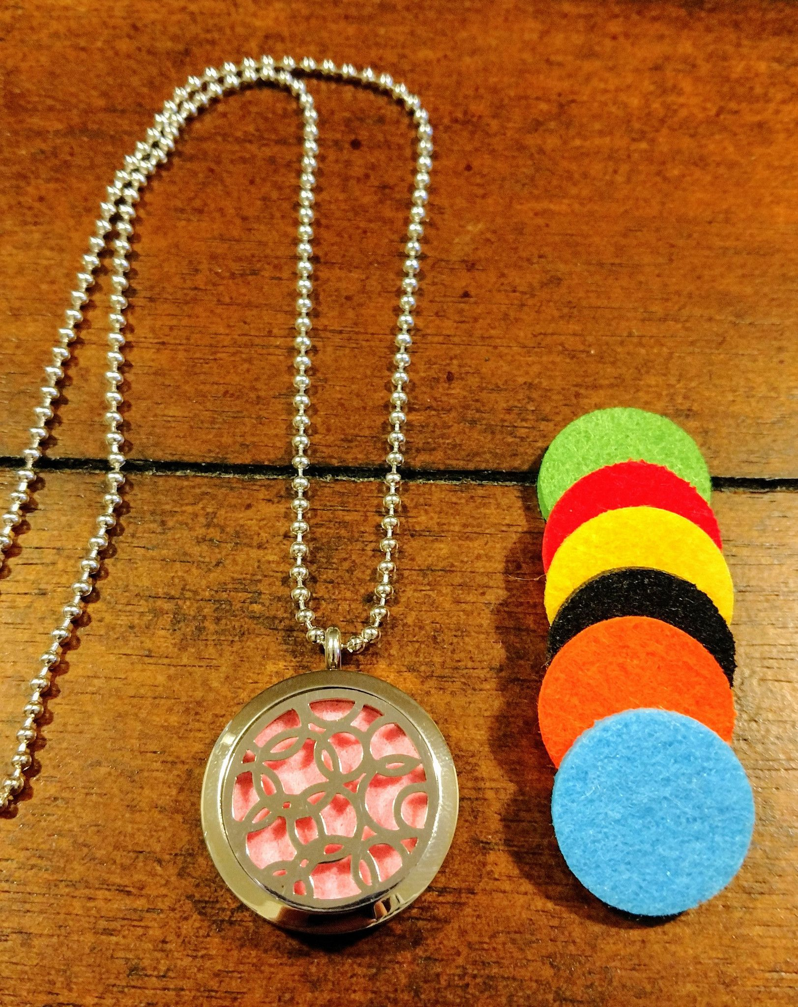 Circles Essential Oil Diffuser Necklace